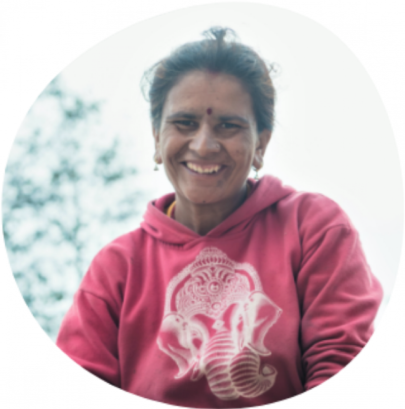 Radhika Bolakhe, a smallholder farmer in Nepal who is expanding her dairy business with access to modern machinery.